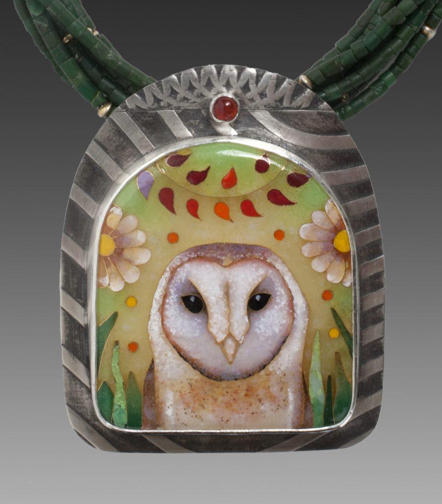 Lundell Cloisenne Owl Gallery Nine