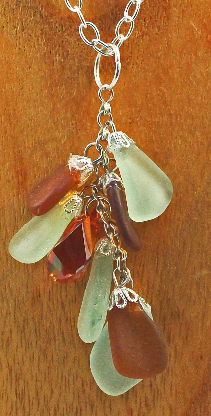 Rody recycled beach glass pendant gallery nine previous image aloadofball Images